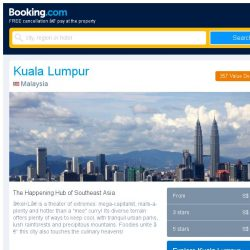 [Booking.com] Deals in Kuala Lumpur from S$ 10