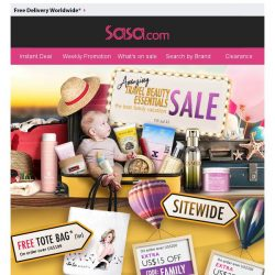 [SaSa ] 【Travel Beauty Essentials Sale】Save up to 88% & Win US$40!