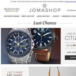 [Jomashop] ENDING SOON: Citizen • Seiko • Patek • AP • MK Handbags • Swiss Military