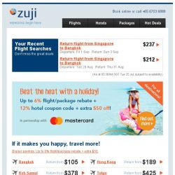 [Zuji] Extra savings with Mastercard! 6% rebate + 12% hotel coupon code.