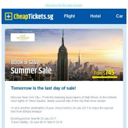 [cheaptickets.sg] ⏰ Mid-year sale: Last chance to enjoy savings to Europe & more | Fares from $745