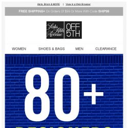 [Saks OFF 5th] 80+ Designers Up to 80% OFF: Akris, Brioni & MORE