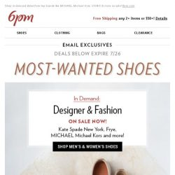 [6pm] In Demand Shoes: Shop Most-Wanted!