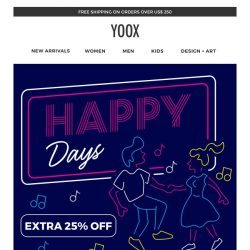 [Yoox] Just for a few days: EXTRA 25% OFF
