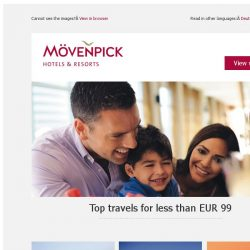 [Mövenpick Hotels & Resorts] Amazing hotels – for under EUR 99