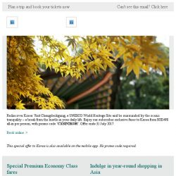 [Cathay Pacific Airways] Subscriber exclusive: Experience Korea from SGD498 all-in