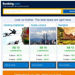 [Booking.com] Genting Highlands and Kuala Lumpur – great last-minute deals from S$ 10