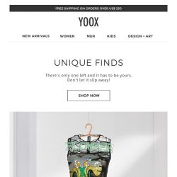 [Yoox] On the hunt for one-of-a-kind items