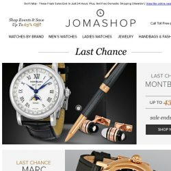 [Jomashop] Sales You Don't Want To Miss
