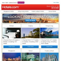 [Hotels.com] Planning a trip?We have deals in Bintan and more