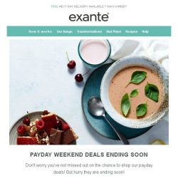 [Exante Diet] Payday Deals - Ending Soon!