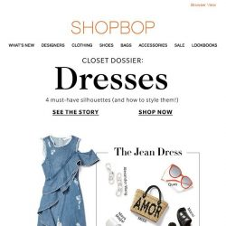 [Shopbop] The 4 dresses we're wearing on repeat