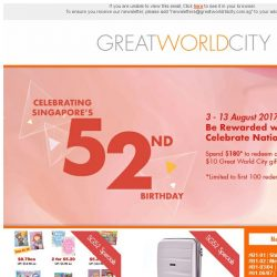 [Great World City]  August Specials at Great World City!