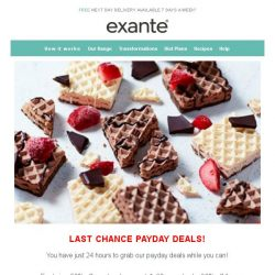 [Exante Diet] Last Chance Payday Deals...