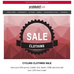 [probikekit] Cycling Clothing SALE