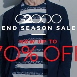 G2000: End Season Sale with Up to 70% OFF + Additional 10% OFF