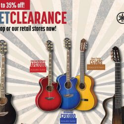 Yamaha: Display Set Clearance Sale With Up to 35% OFF on Guitars