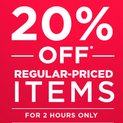 The Face Shop: Happy Hour Specials with 20% OFF Regular-Priced Items