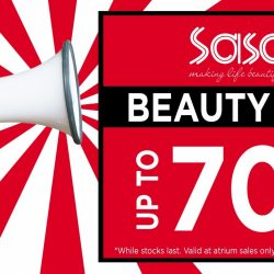 Sasa: Beauty Fair with Up to 70% OFF + Buy 1 Get 1 FREE + FREE Skin Analysis!