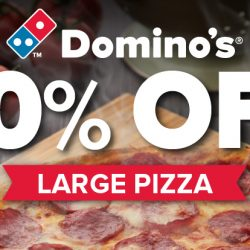 Domino's Pizza: NSmen Enjoy 50% OFF Large Pizzas!