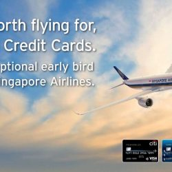 Singapore Airlines: Exceptional Early Bird Fares to Over 55 Destinations from $148 with Citi Credit Cards