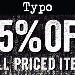 Typo: Grab 35% OFF Full Priced Items Online for 2 Days Only!