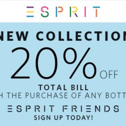 Esprit: Enjoy 20% OFF Total Bill With Purchase Of Any Bottom
