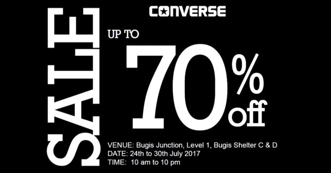 Converse: Sale Up to 70% OFF at Bugis Junction