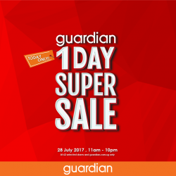 [Guardian] Don't miss out on Guardian's 1 Day Super Sale at 62 selected Guardian stores and on our e-