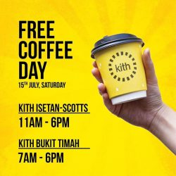 [Kith] One more thing to look forward to this weekend - FREE COFFEE SATURDAY happening at not one but two Kith outlets,