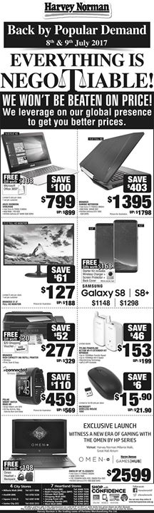 [Harvey Norman] Back by popular demand, Everything is negotiable at HarveyNormanSG again this weekend, we won't be beaten on price!