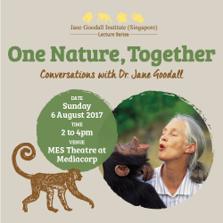 [SISTIC Singapore] Tickets for One Nature, Togther: Conversations with Dr.
