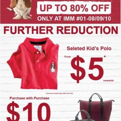 [Hush Puppies Singapore] Further Reduction Sale only at IMM.