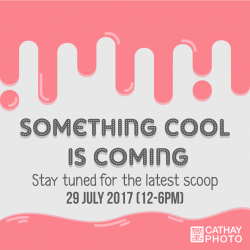 [Cathay Photo] Save this date on your calendars for something really cool coming your way!