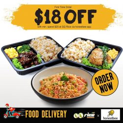 [QQ Rise] QQ Rice X Honestbee$18 off* with your First Order + FREE DeliveryGrab Now at www.