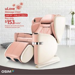 [OSIM] Sit back and enjoy a truly Singaporean OSIM deal this National Day!