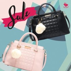 [Jelly Bunny] JELLY BUNNY END OF SEASON SALE• BAGS : INQUILT-TOP HANDLE L / PINK , BLACK / 59.