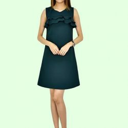 [MOONRIVER] Pamela Fringe Shift Dress - Available in Black and GreenUp to 50% for regular items and up to 70% off