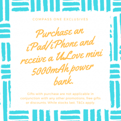 [iStudio] Reward yourself this weekend with a brand new ULove mini 5000mAh power bank with every purchase of iPhone/iPad only