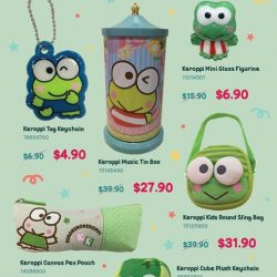 [Sanrio Gift Gate] Get selected Keroppi items at up to 50% off at Sanrio Gift Gate stores from now till end of the