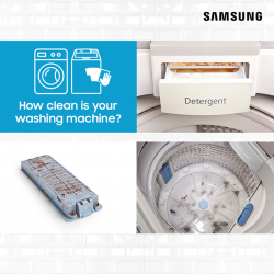 [Samsung Singapore] Our FREE cleaning & maintenance services are now available till 31 Jul to all Samsung top load AND front load washing