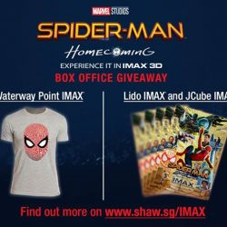 [Shaw Theatres] Be rewarded when you watch SPIDER-MAN: HOMECOMING in IMAX 3D!