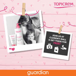 [Guardian] Topicream Family WeekDeveloped with love and sustained with expertise, drop by Clementi Mall this weekend and experience the Topicrem