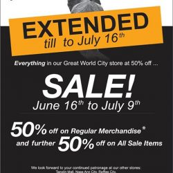 [BritishIndia] Our sale at GreatWorldCity has been extended till July 16th!