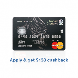 [Standard Chartered Bank] No cashback cap and no minimum spend.