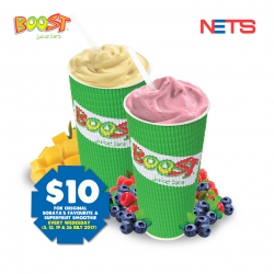 [Boost Juice Bars Singapore] WedNETSday Special!