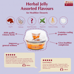 [Eu Yan Sang] Put a healthier twist to your desserts with herbal jelly.