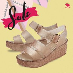 [Jelly Bunny] JELLY BUNNY END OF SEASON SALE • SHOES : PARALEL / GOLD GLITTER / 23.