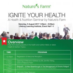 [Nature's Farm] Event Details Date:  5th August 2017, Saturday Venue: Lifelong Learning Institute Event Hall 1-1 11 Eunos Road 8, Level