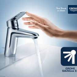 [GROHE SPA] AS SMOOTH AS SILK GROHE SilkMove ES saves energy by preventing unnecessary production of hot water.